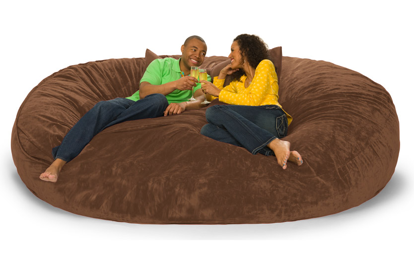 Fabric Guest Chairs 8 foot Lovesac Big One Foam Bag
