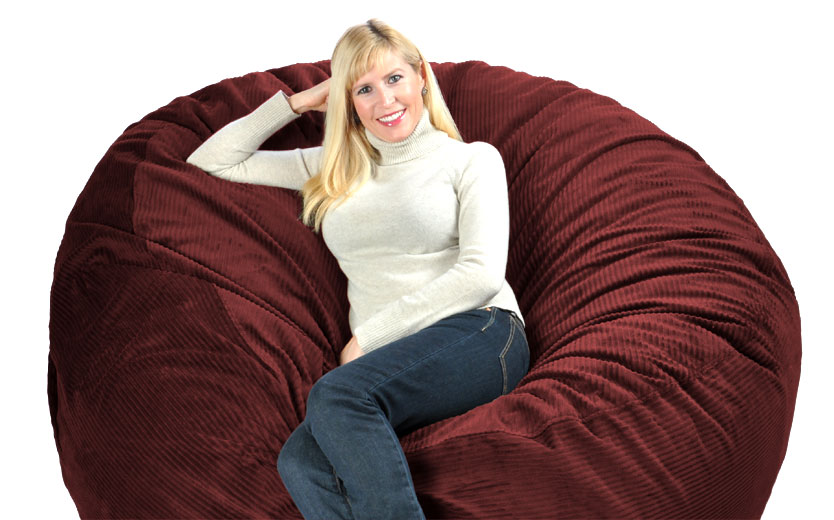 Huge Bean Bag Chair Lovesac Love Sac Fy Sack Fombag The Bigone Insert
