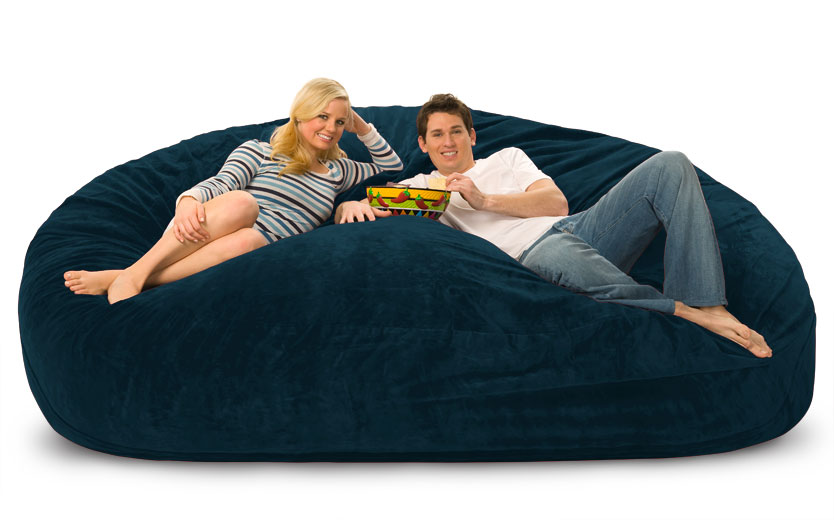 8 foot lovesac big one foam bag